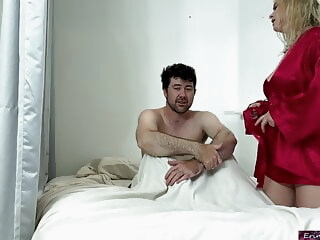 Stepson takes wrong pills and fucks his stepmom for relief iceporn amateur blonde big boobs