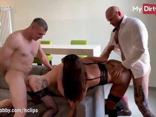 MyDirtyHobby - Wives caught kissing each other and swapped by husbands iceporn amateur big cock big tits