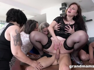 GrandMams - Horny Grandmams And Toyboys Part 1 iceporn big tits blonde brunette