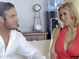 A quick lesson from MILF iceporn big tits blonde brunette