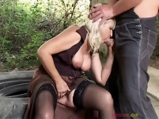Naughty Granny Does It Outdoors iceporn anal big tits blonde