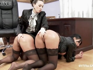 Busty office ladies decided to have a wild threesome with their boss, who is a lesbian iceporn anal bdsm big tits