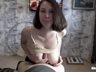 I won't let you Play PS 4 until you Fill my Mouth with Cum!!! she Quenches Thirst by Blowjob !!! iceporn big tits brunette handjob